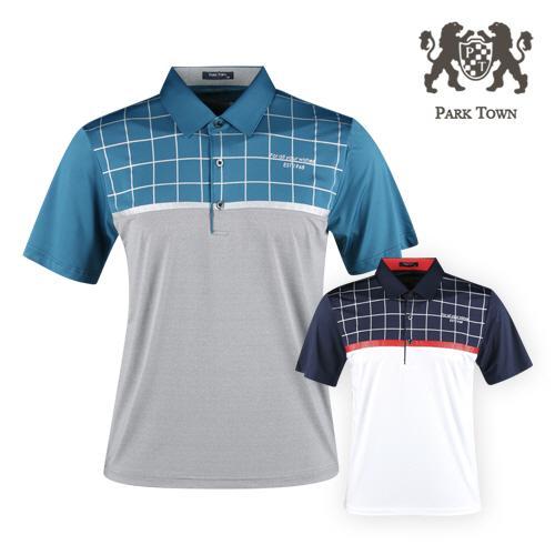 파크타운 아이스쿨 반팔 골프셔츠 RM20M421