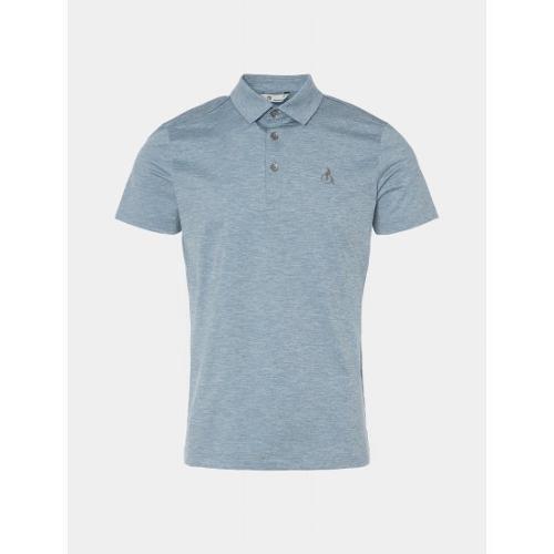 [빈폴골프] 남성 블루 멜란지 칼라 티셔츠 (BJ0442B25P)