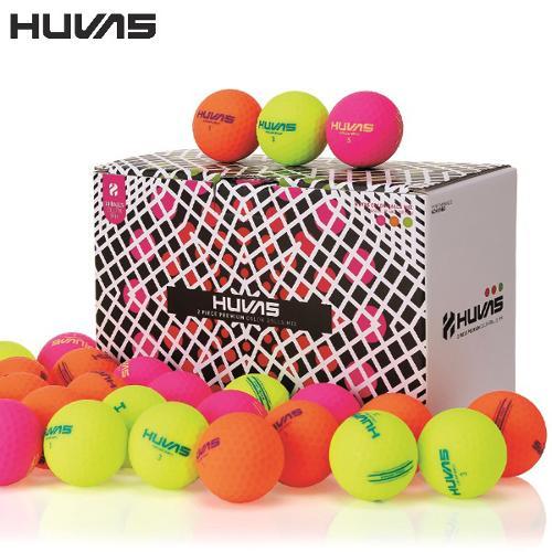 휴베스 무광컬러 골프볼(3색구성 30알) - 6605-321-51