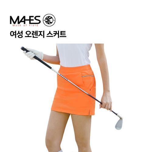 [마헤스] 여성 오렌지 스커트 GKW9070 골프패션