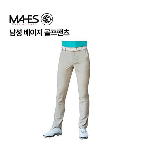 [마헤스] 남성 베이지 골프팬츠 GPM7026 골프패션