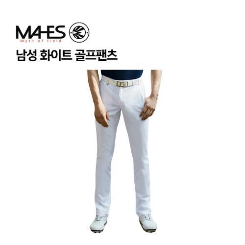 [마헤스] 남성 화이트 골프팬츠 GPM7025 골프패션
