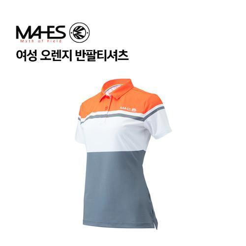 [마헤스] 여성 오렌지 반팔티셔츠 GS60351 골프패션
