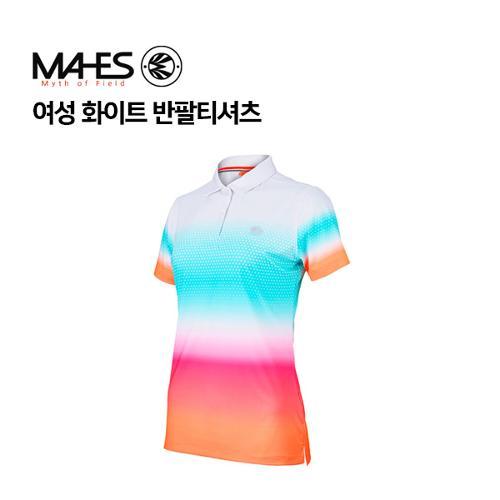 [마헤스] 여성 화이트 반팔티셔츠 GS60349 골프패션