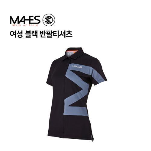 [마헤스] 여성 블랙 반팔티셔츠 GS60348 골프패션