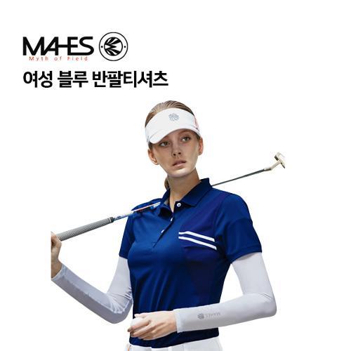 [마헤스] 여성 블루 반팔티셔츠 GS60300 골프패션