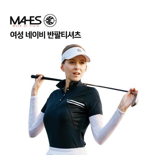 [마헤스] 여성 네이비 반팔티셔츠 GS60297 골프패션