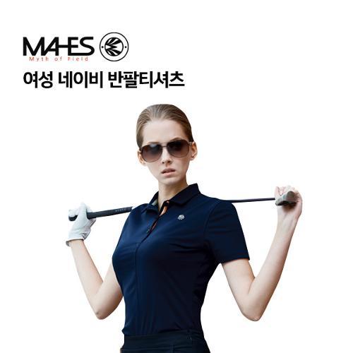 [마헤스] 여성 네이비 반팔티셔츠 GS60294 골프패션