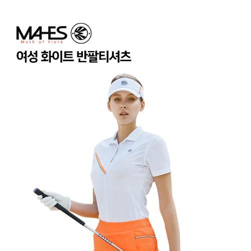 [마헤스] 여성 화이트 반팔티셔츠 GS60291 골프패션