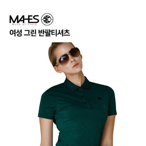 [마헤스] 여성 그린 반팔티셔츠 GS60288 골프패션