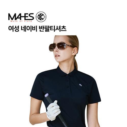 [마헤스] 여성 네이비 반팔티셔츠 GS60286 골프패션