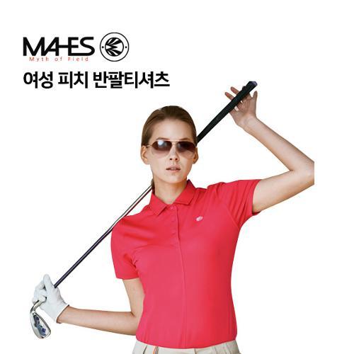 [마헤스] 여성 핑크 반팔티셔츠 GS60284 골프패션