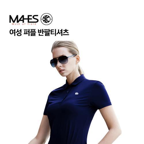 [마헤스] 여성 퍼플 반팔티셔츠 GS60281 골프패션