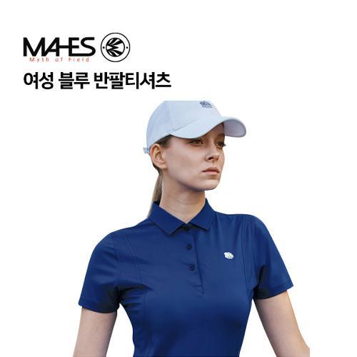 [마헤스] 여성 블루 반팔티셔츠 GS60277 골프패션