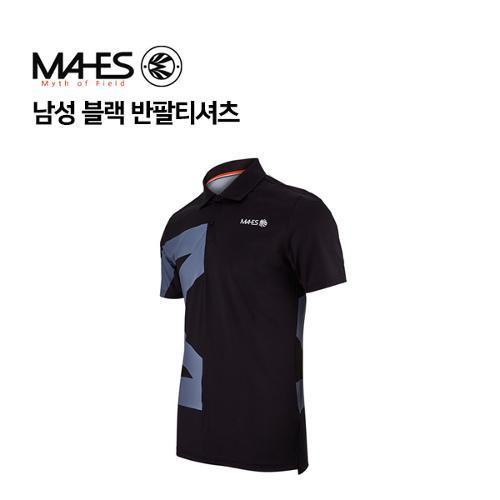 [마헤스] 남성 블랙 반팔티셔츠 GS50348 골프패션