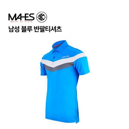 [마헤스] 남성 블루 반팔티셔츠 GS50346 골프패션