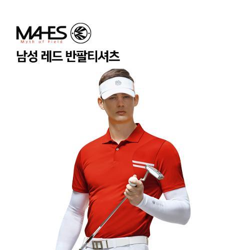 [마헤스] 남성 레드 반팔티셔츠 GS50298 골프패션