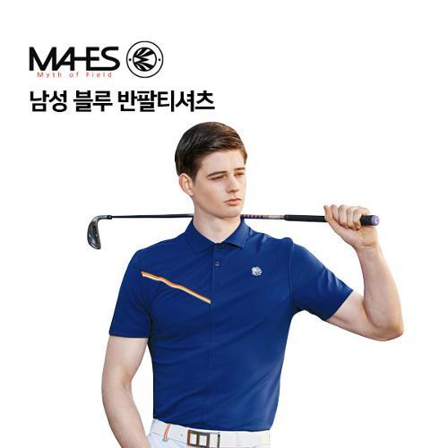 [마헤스] 남성 블루 반팔티셔츠 GS50293 골프패션