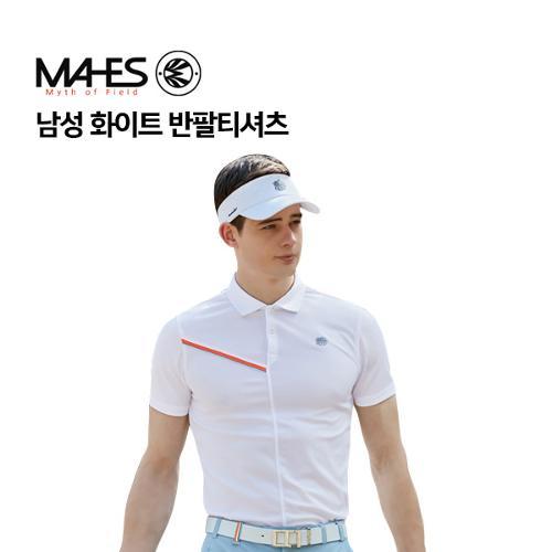 [마헤스] 남성 화이트 반팔티셔츠 GS50291 골프패션