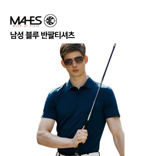 [마헤스] 남성 블루 반팔티셔츠 GS50289 골프패션
