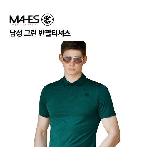 [마헤스] 남성 그린 반팔티셔츠 GS50288 골프패션