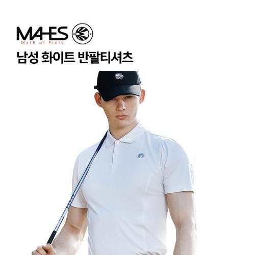 [마헤스] 남성 화이트 반팔티셔츠 GS50287 골프패션