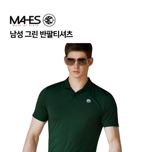 [마헤스] 남성 그린 반팔티셔츠 GS50283 골프패션