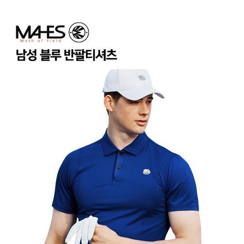 [마헤스] 남성 블루 반팔티셔츠 GS50277 골프패션