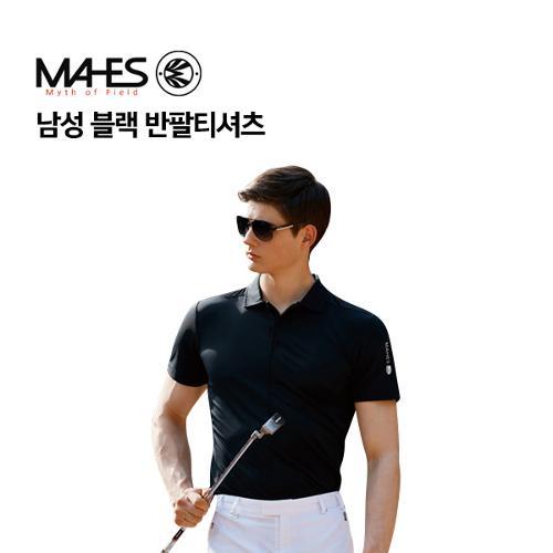 [마헤스] 남성 블랙 반팔티셔츠 GS50273 골프패션