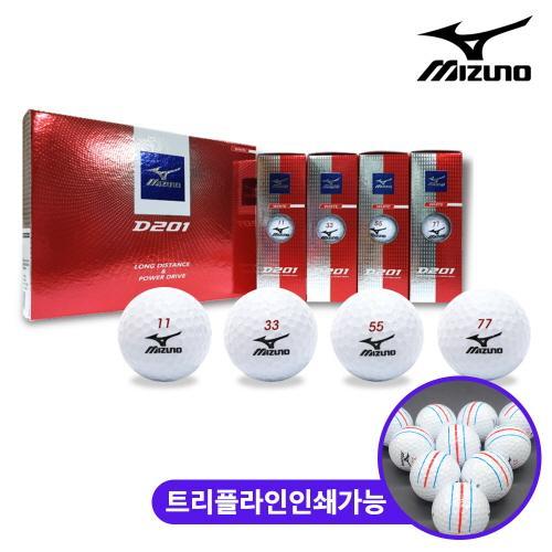 미즈노 D201 소프트 2피스 골프공 12알