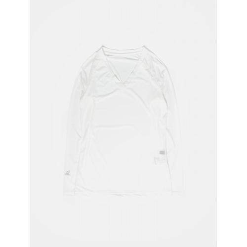 [빈폴골프] 여성 화이트 쿨스킨 브이넥 냉감 티셔츠 (BJ9641A031)