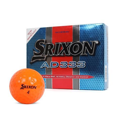 [던롭코리아 정품] 스릭슨 AD333 2피스 골프공 / 골프볼 [오렌지]