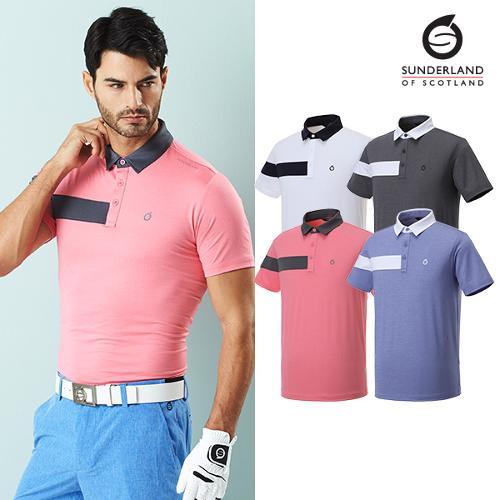 선덜랜드 남성 투톤 반팔 티셔츠 - 16021TS02