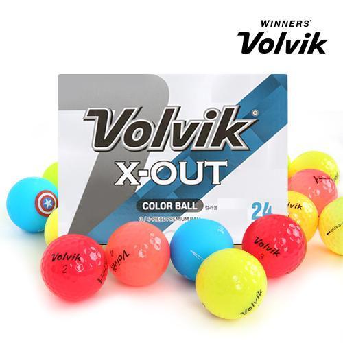 [볼빅 정품] 2020년 신제품 X-OUT 컬러 혼합 3,4피스 혼합 컬러 골프공_24 알세트