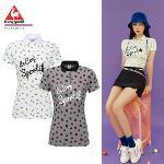 [르꼬끄골프] [20SS 신상]여성 캔디팝 전판 패턴 티셔츠 (G0222LTS64)