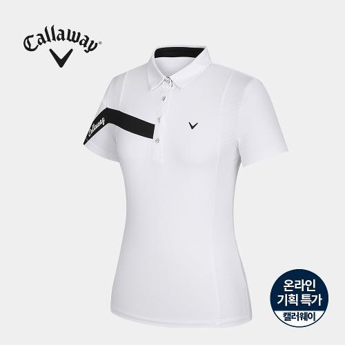 [캘러웨이]기획 여성 원카라 반팔 티셔츠 CWTYJ6752-100_G