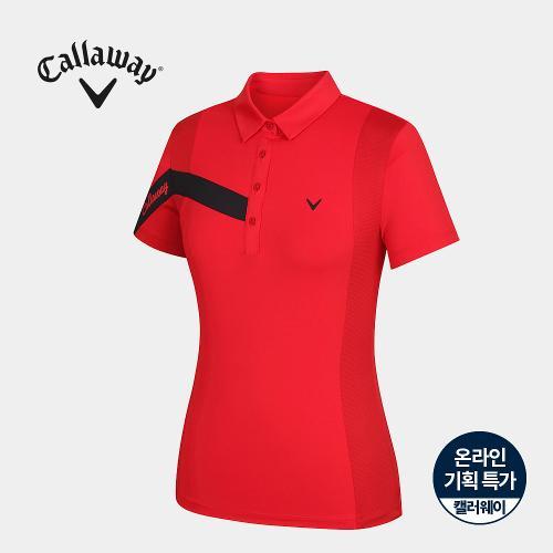 [캘러웨이]기획 여성 원카라 반팔 티셔츠 CWTYJ6752-500_G