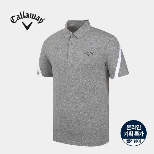 [캘러웨이]기획 남성 소매 배색 카라 반팔 티셔츠 CMTYJ2663-193_G