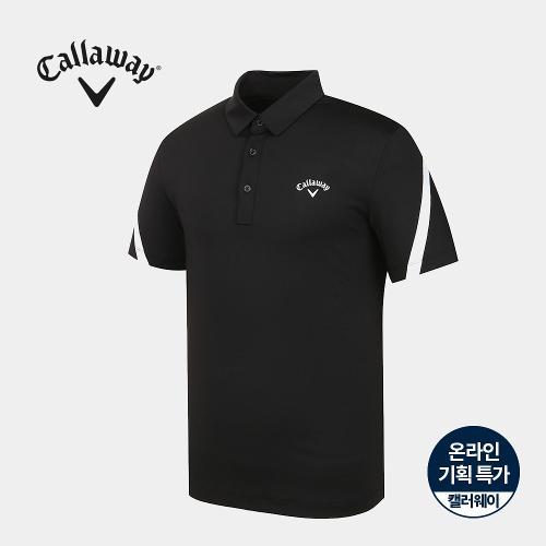 [캘러웨이]기획 남성 소매 배색 카라 반팔 티셔츠 CMTYJ2663-199_G