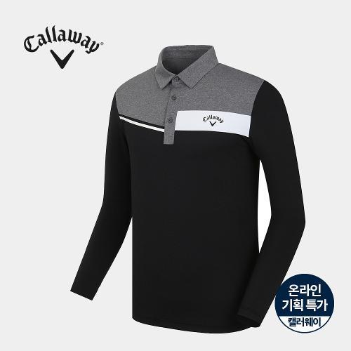 [캘러웨이]기획 남성 냉감 소매 배색 카라 티셔츠 CMTYJ2758-199_G
