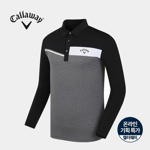[캘러웨이]기획 남성 냉감 소매 배색 카라 티셔츠 CMTYJ2758-193_G
