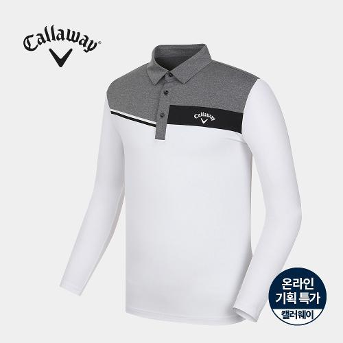 [캘러웨이]기획 남성 냉감 소매 배색 카라 티셔츠 CMTYJ2758-100_G