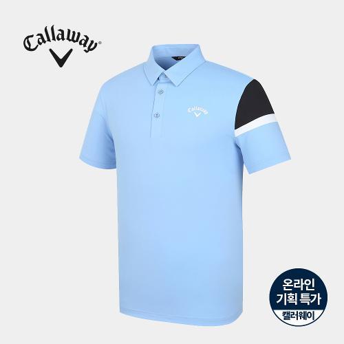 [캘러웨이]기획 남성 소매 배색 카라 반팔 티셔츠 CMTYJ2665-940_G