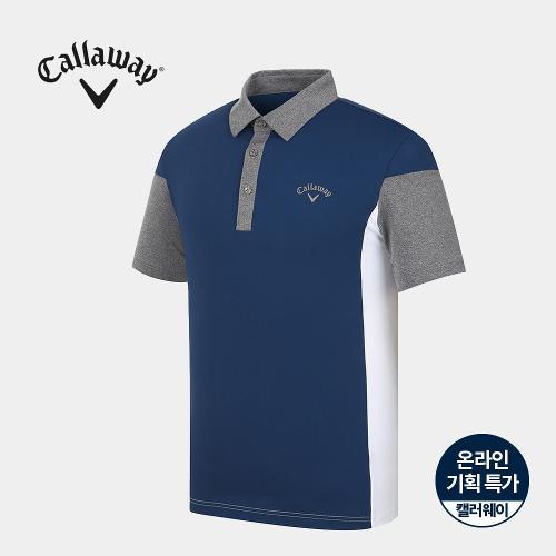 [캘러웨이]기획 남성 배색 카라 반팔 티셔츠 CMTYJ2753-905_G