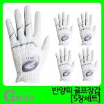 지맥스 반양피 남성용 골프장갑 5세트 GMG17015