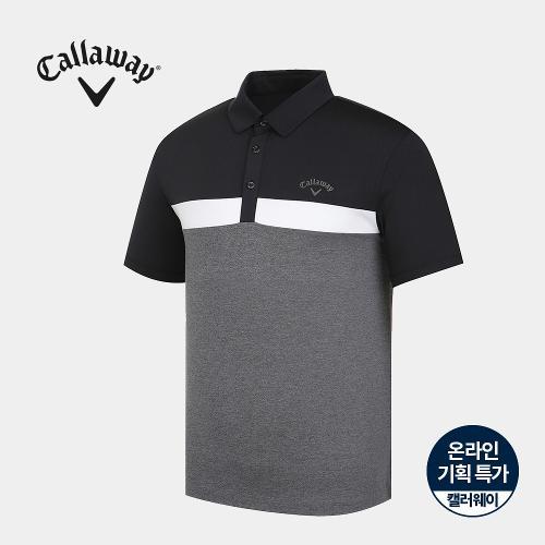 [캘러웨이]기획 남성 컬러 블럭 카라 반팔 티셔츠 CMTYJ2668-193_G