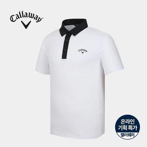 [캘러웨이]기획 남성 원배색 카라 반팔 티셔츠 CMTYJ2752-100_G