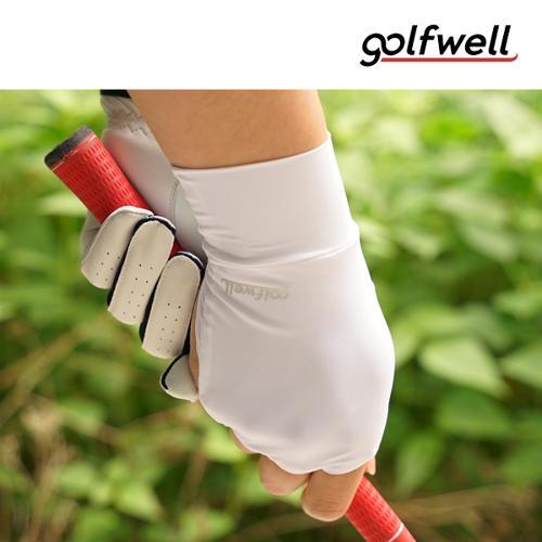 골프웰 스판 UV차단 냉감 한손 손등장갑 (GW023-HW)