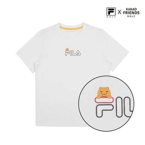 [휠라X카카오프렌즈] UNISEX 라이언 공용 라운드 티셔츠_리미티드라인
