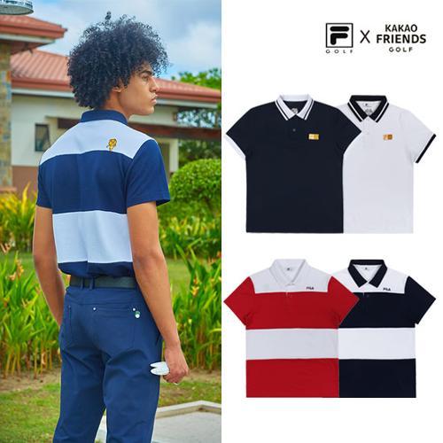 [휠라X카카오프렌즈] 남성 PK/블록 티셔츠_리미티드라인